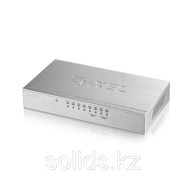 Коммутатор Zyxel  8 портов 1000 Мбит/с настольный металлический корпус