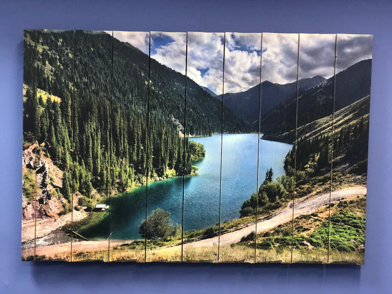 Картина «Большое Алматинское озеро (БАО)» 60×90 см