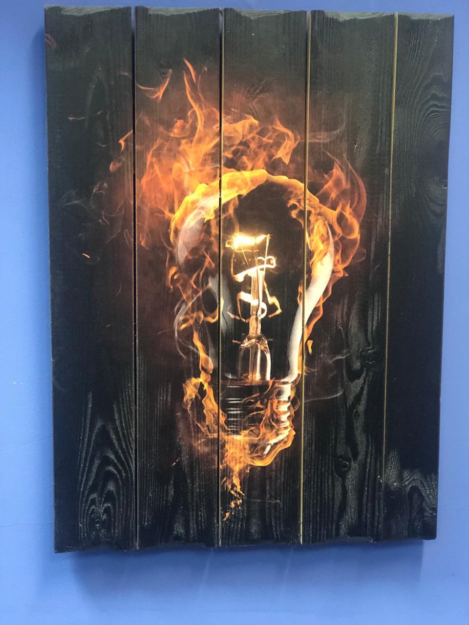 Картина «Лампочка» 50×60 см