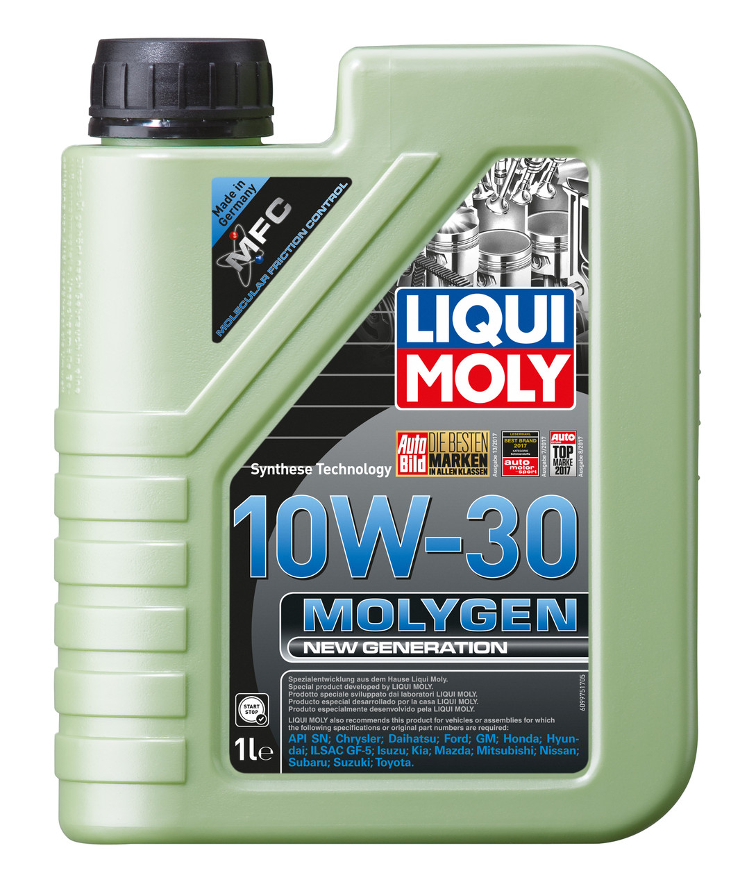 Моторное масло Molygen New Generation 10W-30, 1L, LIQUI MOLY