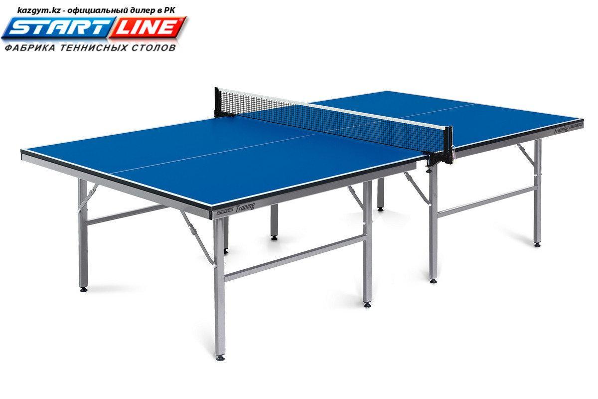 Теннисный стол Start Line Training 22 мм, без сетки, на роликах, регулируемые опоры