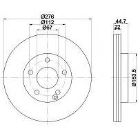 Тормозные диски Mercedes В-Class W245 (05-11, передние, вент., Optimal), фото 1
