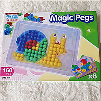 Мозайка с трафаретом Magic Pegs