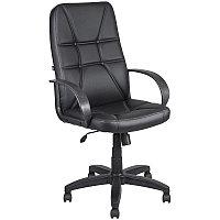 Кресло руководителя Алвест AV 114 PL, экокожа черная, механизм качания