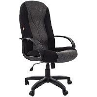 Кресло руководителя Chairman 785 PL, ткань черная TW-11+ серая TW-12, механизм качания