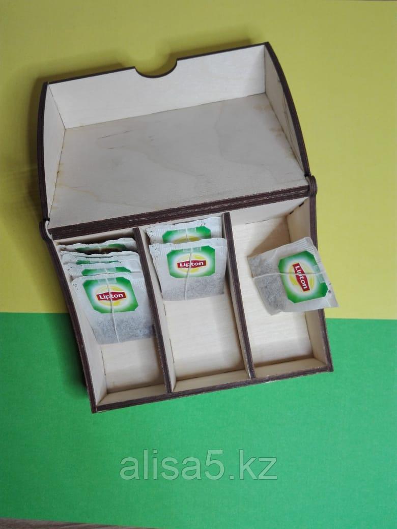 Органайзер для чайных пакетиков (дерево) 14 х 10 х 7см