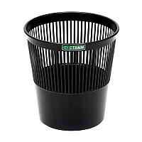 Корзина для бумаг Стамм.круглая, сетчатая, черная 9л  # KP21