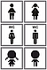 Металлические таблички на туалет, таблички для сан узлов, фото 3
