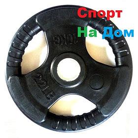 Блины (диски) для олимпийской штанги с хватом (Черные)