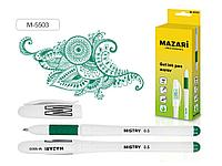 "Ручка гелевая MAZARI ""MISTRY"" 0,5 мм, зеленая"