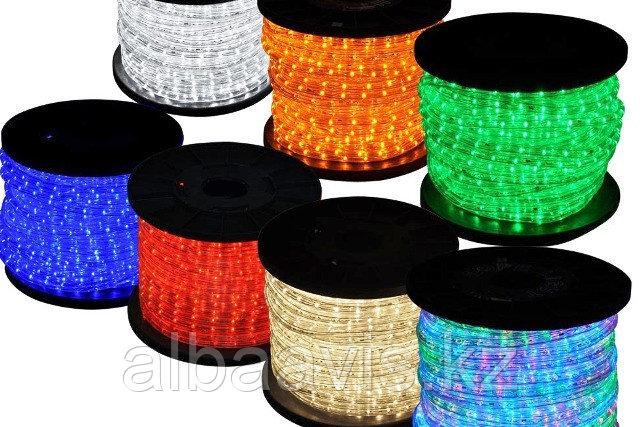 Ламповый Дюралайт 85 м бухта круглый 2-х жильный все цвета