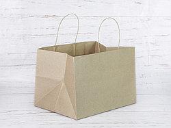 Бумажный крафт-пакет. Размер: 29*20*21.