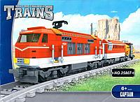 """Конструктор 25807 AUSINI """"Поезд"""" 588 деталей, рельсы в комплекте, в коробке 47*35*7 см"""