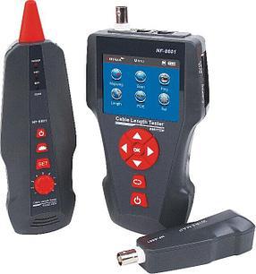 Многофункциональный тестер для LAN, телефонного и коаксиального кабеля, Ping-тест, определение PoE, цв.дисплей, фото 2