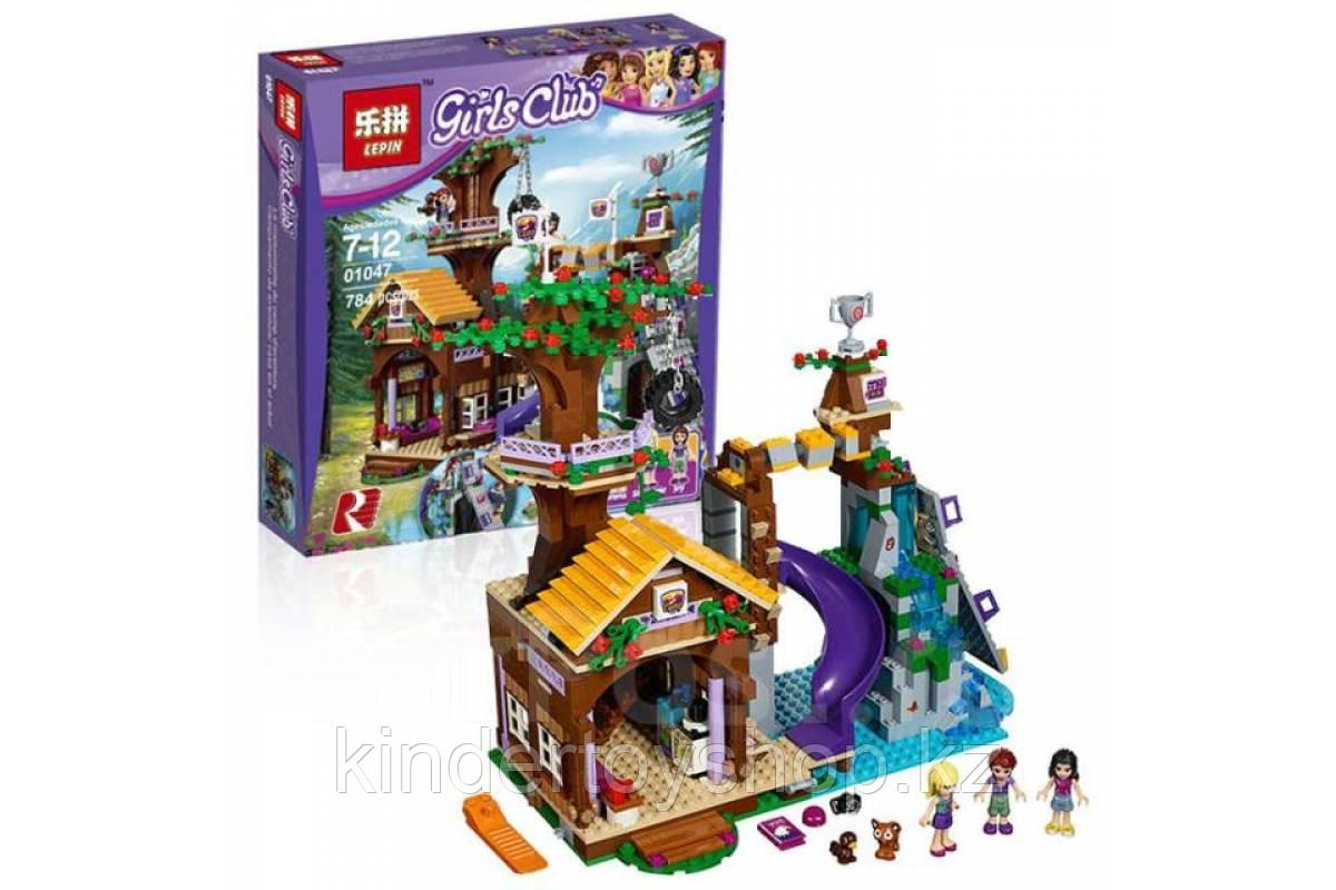 Конструктор Leduo Friends Lepin 01047 / Спортивный лагерь: дом на дереве (аналог LEGO 41122, 784 дет.)