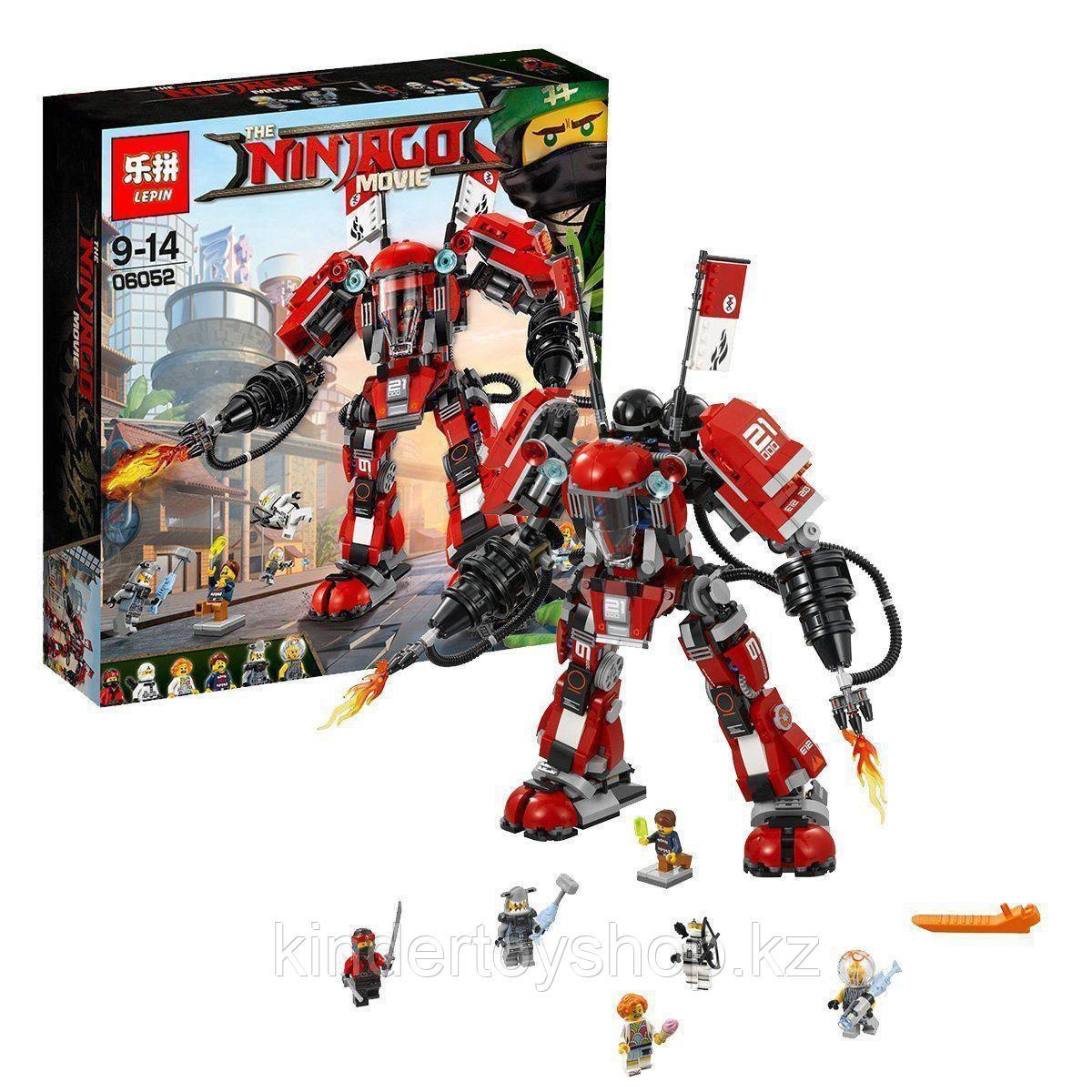 Конструктор Lele 31074 Ниндзяго Муви Огненный робот Кая 980 деталей аналог lego Ниндзяго 70615