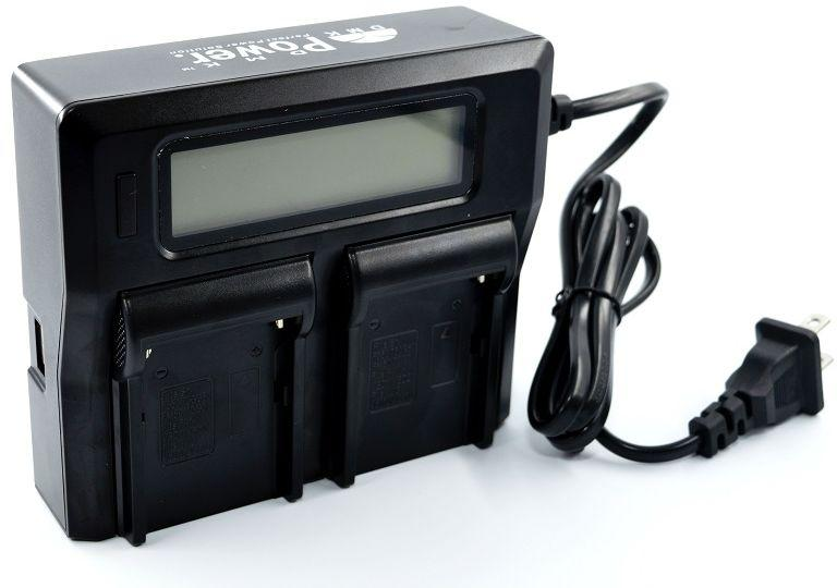 Зарядное устройство 2 аккумуляторов с LED дисплеем SONY NP-F970/NP-F770/NP-F550/NP-F570 и т.д.