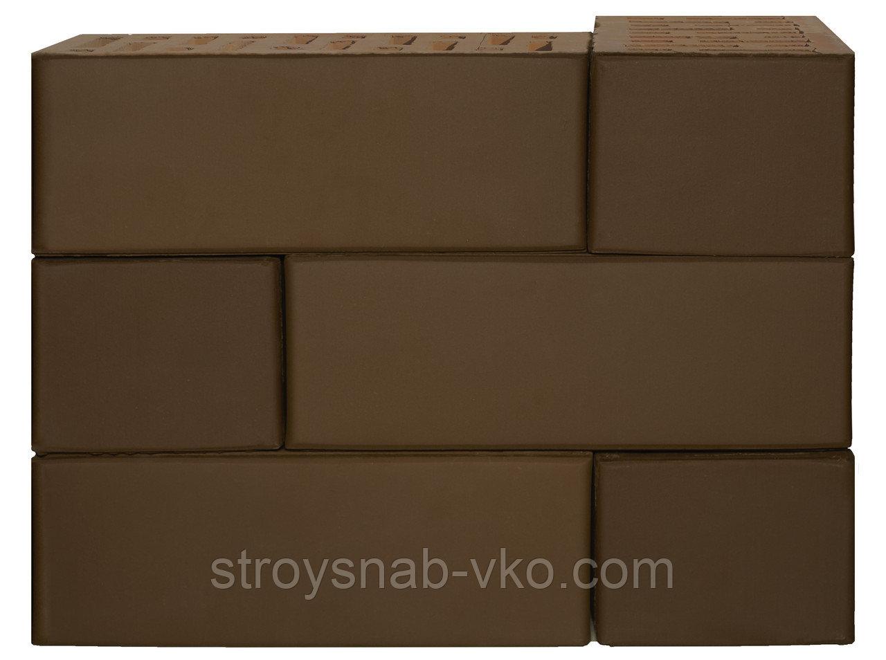 Кирпич облицовочный шоколад Ликолор