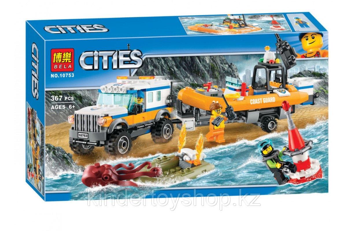 """Конструктор Bela 10753 Cities """"Внедорожник 4х4 команды быстрого реагирования"""" (аналог LEGO 60165)"""