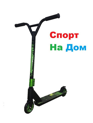 Трюковый самокат SHOW SCOOTER Black-Green (BenTen) доставка, фото 2