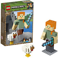 LEGO MINECRAFT Большие фигурки Minecraft, Алекс с цыплёнком 21149