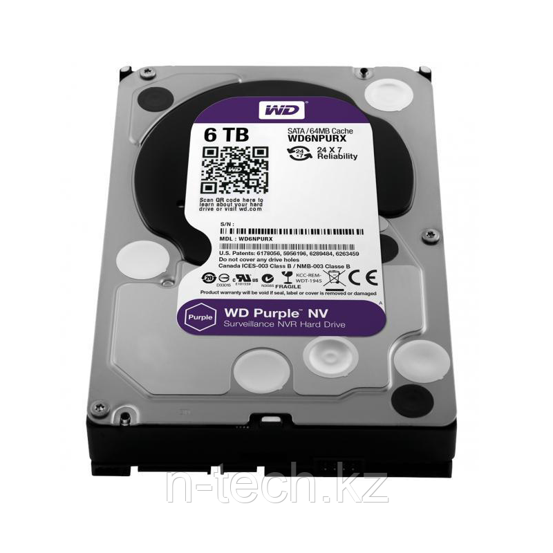 "WD60PURX Жесткий диск 6000ГБ Western Digital ""Caviar Purple"""