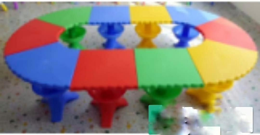 Стол детский овальный