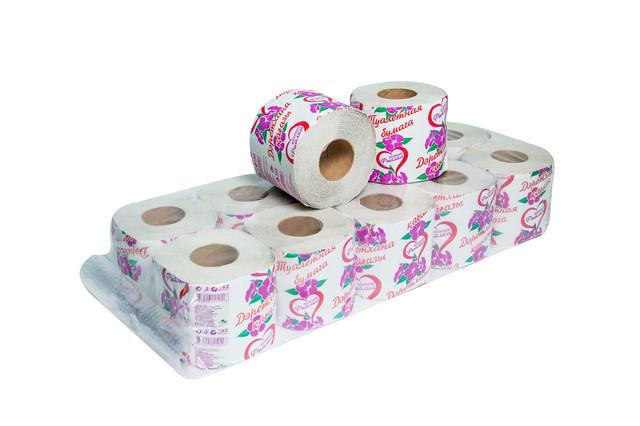 Туалетная бумага макулатурная