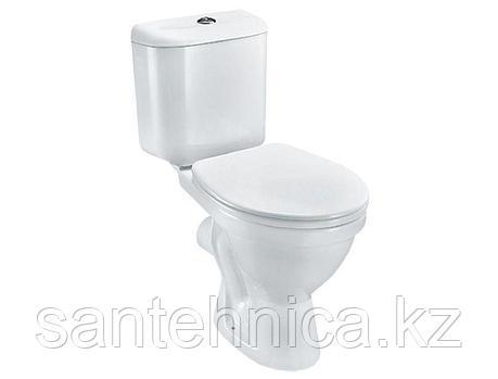 """Унитаз-компакт """"Lyra"""" Jika Белый косой выпуск нижний подвод воды , фото 2"""