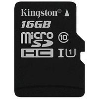 Карта памяти MicroSD 16GB Class 10 U1 Kingston SDCS/16GB