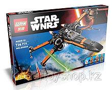 Конструктор Lepin 05004 аналог LEGO 75102 Истребитель По STAR WARS 736 детали