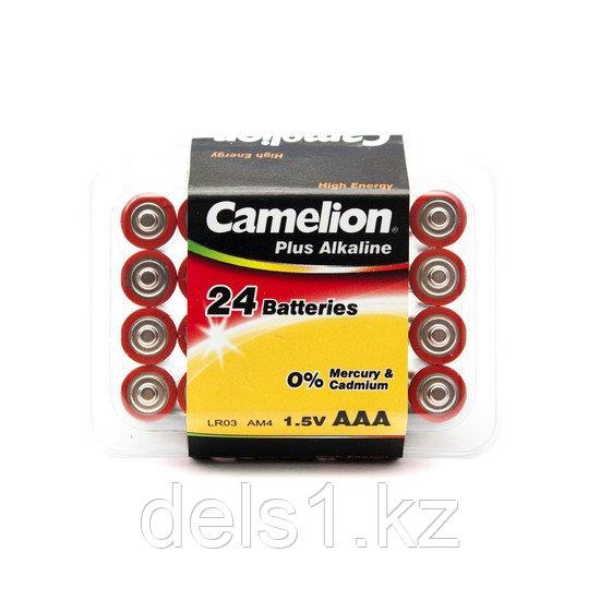 Батарейка, CAMELION, LR03-PB24, Plus Alkaline, AAA, 1.5V, 1250 mAh, 24 шт., Пластиковый кейс