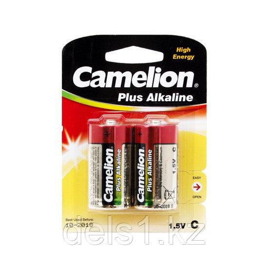Батарейка, CAMELION, LR14-BP2, Plus Alkaline, C, 1.5V, 8450 mAh, 2 шт., Блистер