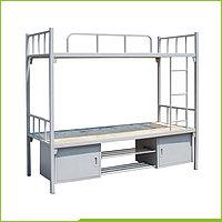 Высококачественная стальная двухъярусная кровать со шкафчиками