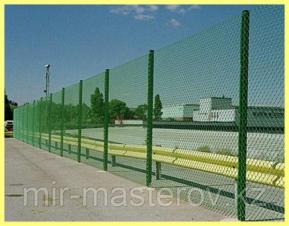 Забор из сетки рябицы