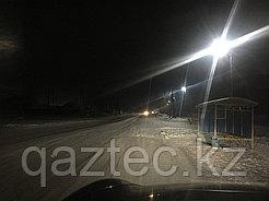 Освещение улицы Чкалова г. Атбасар светодиодными светильниками ССУ Магистраль нового поколения.