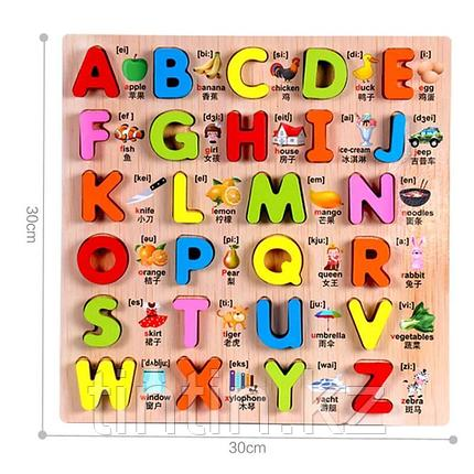 Рамка-вкладыш - Английский Алфавит, 30х30х2см., фото 2