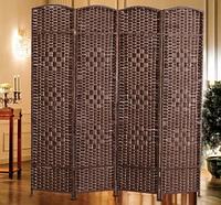 Ширма декоративная коричневая (4 секции)
