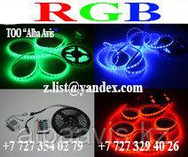 Лента SMD 3528, 12v в силиконе 60 диодов/метр красный, желтый, синий,зеленый, холодный белый,теплый