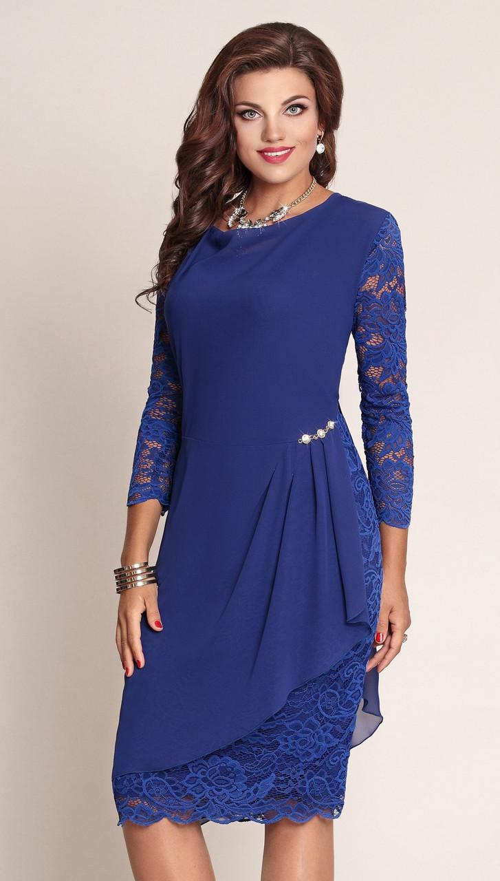Платье Vittoria Queen-2043/4, василек, 54