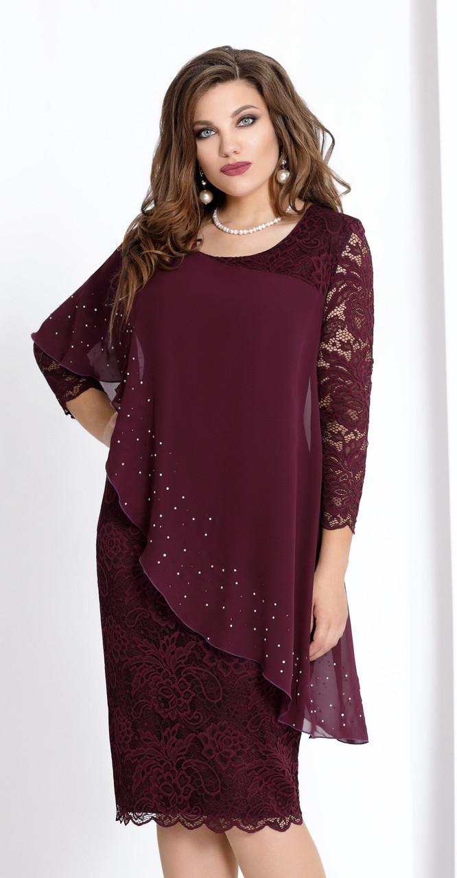 Платье Vittoria Queen-973/6, бордо, 54