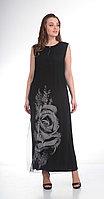 Платье Диамант-1183, черный, 48