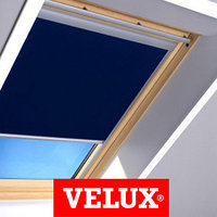 Шторы на мансардные окна VELUX 55х98 цвет синий, фото 1