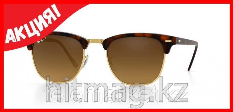 Очки RAY BAN CLUBMASTER BROWN GOLD, Оригинал!