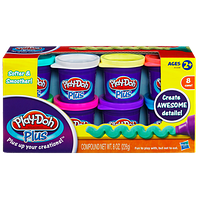 Hasbro Play-Doh Plus Набор из 8 банок пластилина