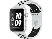 Apple Watch Series 3 42mm Nike+ Silver Aluminum Case Nike Sport Band Silver-Black