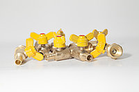 Газ кран штуцер ф15 одиннарный (штуцер)
