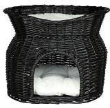Trixie 2872 Домик  для собак и кошек  плетенная с мягкой подстилкой, 54×43×37см.