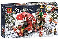 Конструктор bela 11083 новогодний грузовик аналог Lego Creator Рождество Грузовик Санты, фото 1