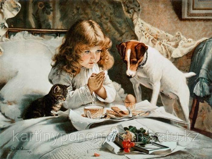 "Картина по номерам ""Утренняя молитва"""